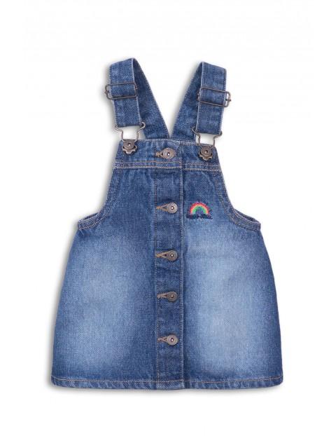 Spódnica jeansowa na szelkach dla dziewczynki
