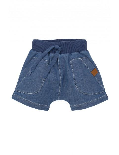 Spodenki niemowlęce jeansowe