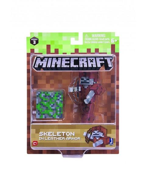 Figurka Minecraft- szkielet w skórzanej zbroi