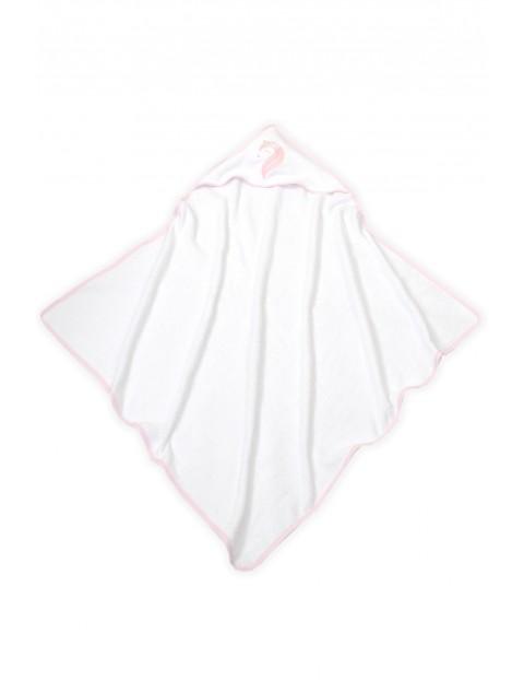 Okrycie kąpielowe dla dziecka jednorożec róż- 100X100cm