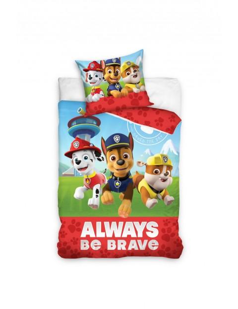 Pościel bawełna dla dziecka Psi Patrol 160x200+70x80cm