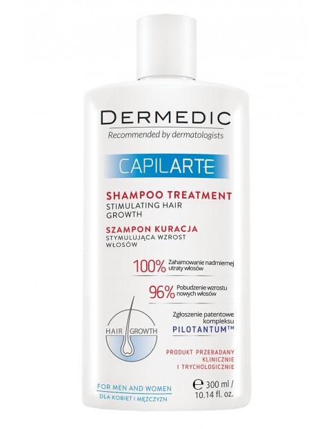Kuracyjny szampon stymulujący wzrost włosów CAPILARTE Dermedic 300ml