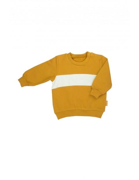 Musztardowa bluza dresowa dla dziewczynki