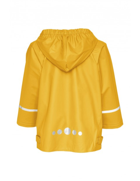 Kurtka przeciwdeszczowa z odblaskami - żółta