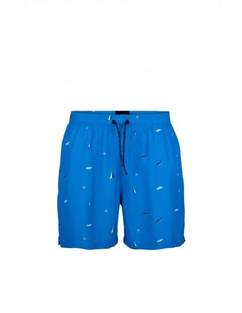 Szorty plażowe męskie Atlantic - niebieskie