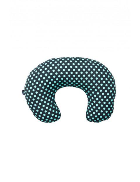 Poduszka do karmienia Comfort Exclusive grochy szaro-turkusowe 140 cm