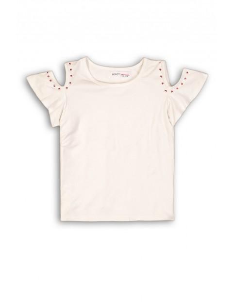 Koszulka dziewczęca z ozdobnym rękawem