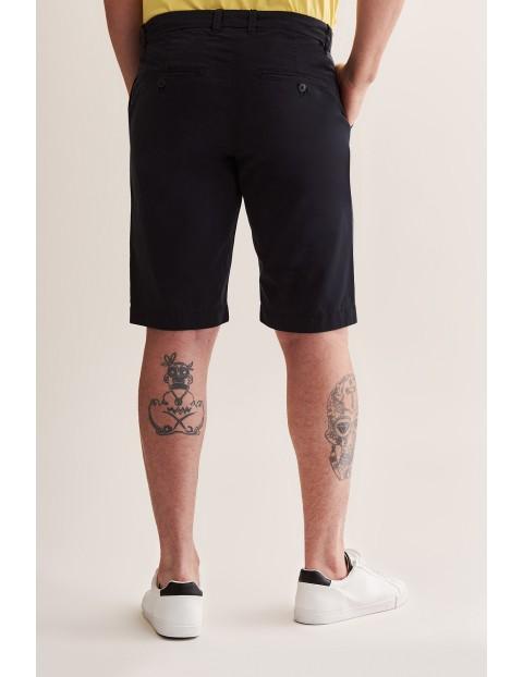 Bawełniane szorty męskie Tatuum - czarne