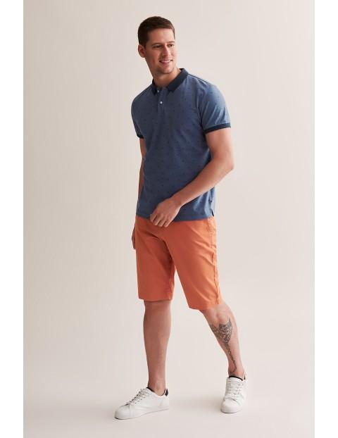 Bawełniane szorty męskie - pomarańczowe