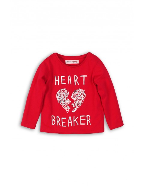 Bluzka dziewczęca czerwona Heart Breaker