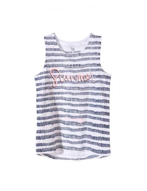 Koszulka dziewczęca na ramiączka- summer