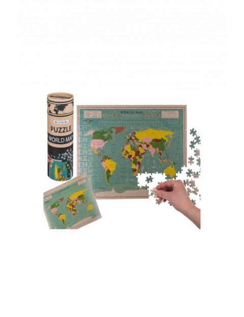 Mapa świata - puzzle w tubie - 300el