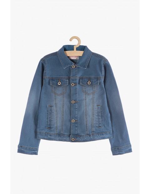 Kurtka jeansowa dziewczęca- niebieska