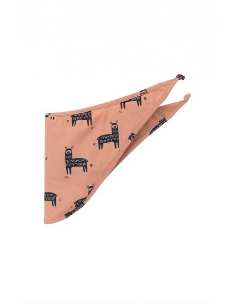 Chustka pod szyję różowa w lamy