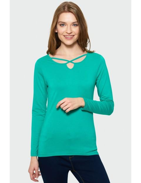 Bluzka z długim rękawem - zielona