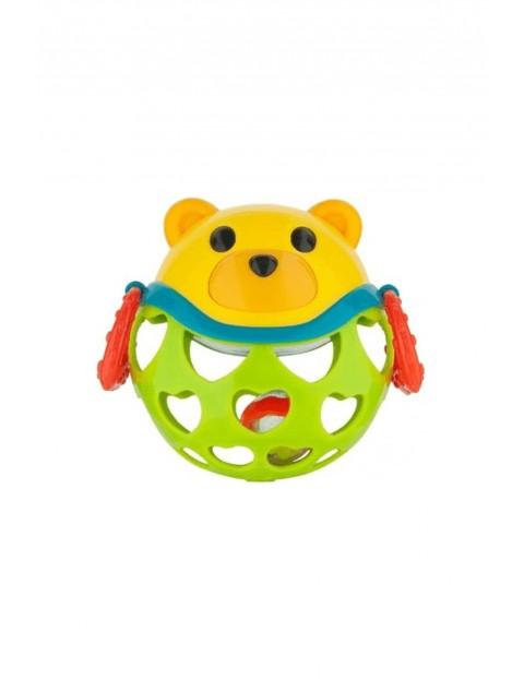 """Interaktywna zabawka dla niemowlaka z grzechotką """"Miś Zielony"""""""