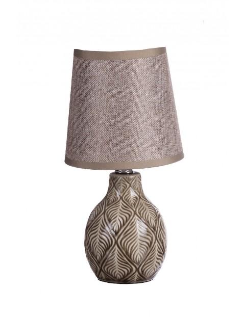 Lampa z ceramiczną podstawą - brązowa
