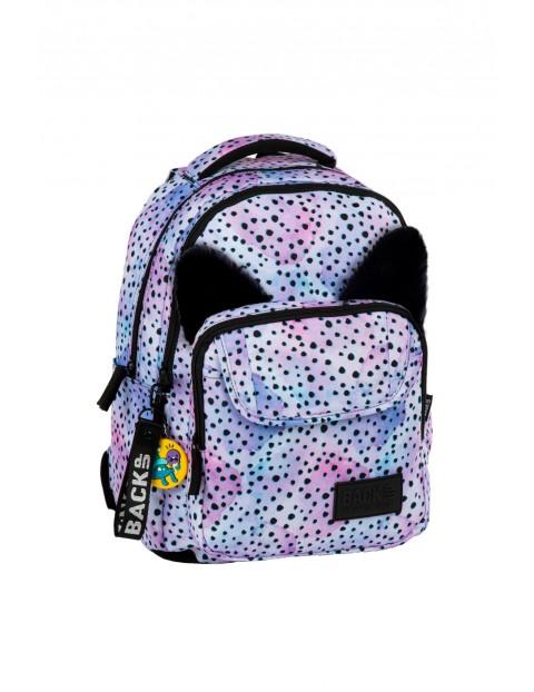 Plecak dziewczęcy fioletowy 3komorowy