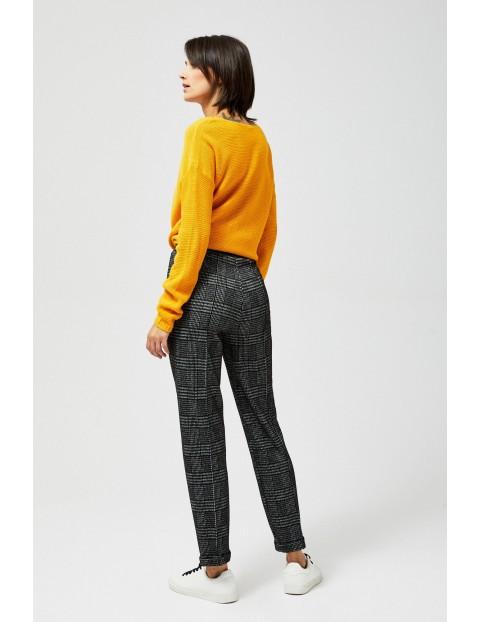 Spodnie damskie w kratę