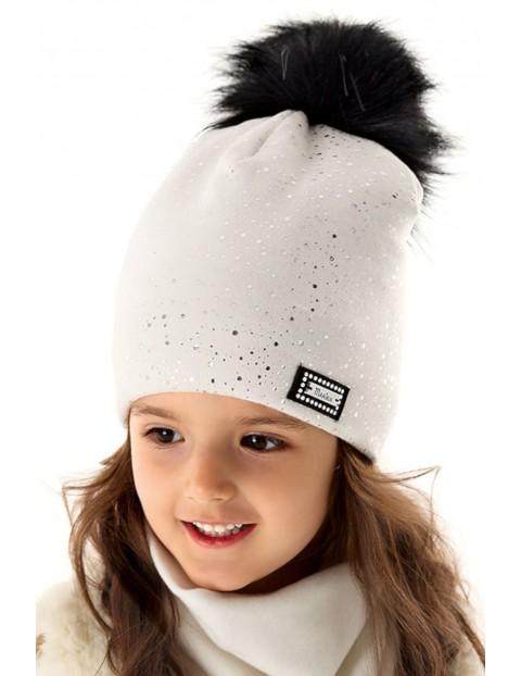 Czapka dziewczęca zimowa 3X35AY