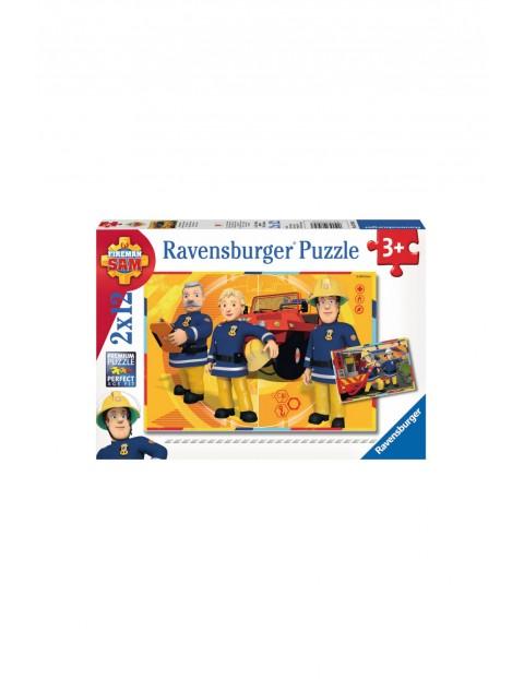 Puzzle Strażak Sam 2x12 elementów