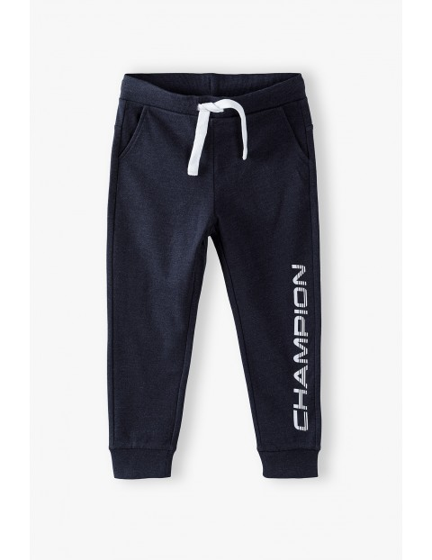Spodnie dresowe chłopięce czarne- Champion