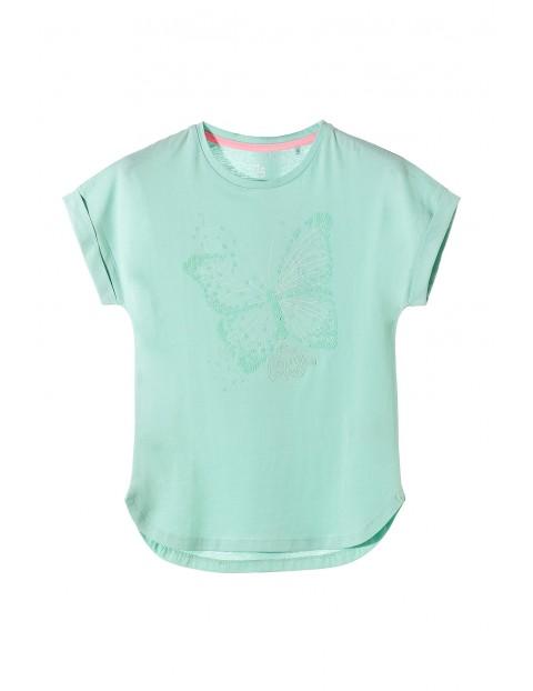 Koszulka dziewczęca z motylem