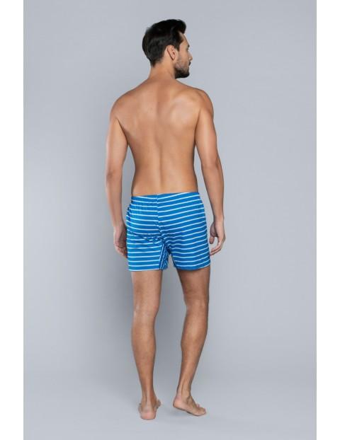 Bokserki męskie niebieskie w paski Italian Fashion