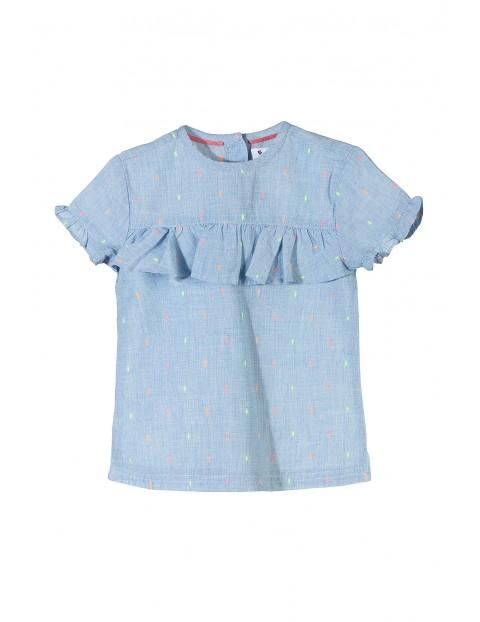 Koszula dziewczęca z falbanką