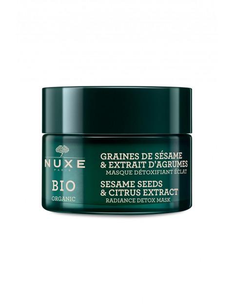 NUXE BIO Rozświetlająca maska detoksykująca - ekstrakt z cytrusów i ziaren sezamu 50 ml
