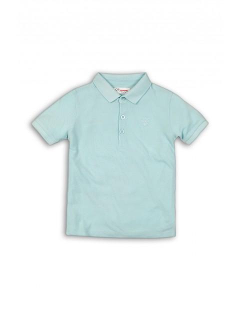 Błękitna bluzka z kołnierzykiem