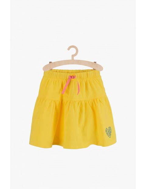 Spódnica dzianinowa na lato-żółta