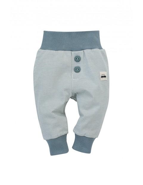 Spodnie dresowe niemowlęce w paski- Little Car