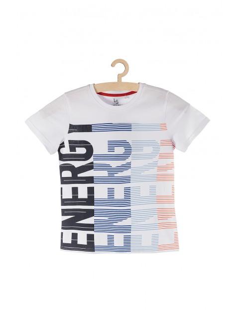 T-shirt bawełniany z napisem Energy