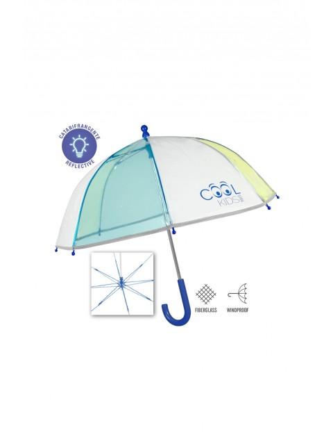 Parasolka transparentna z odblaskami