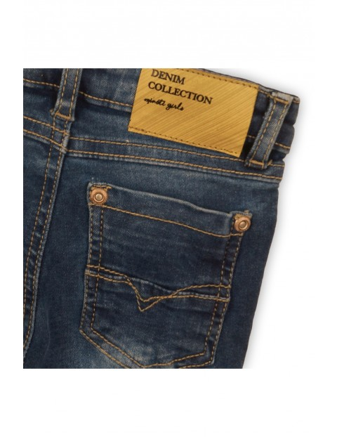 Jeansowe granatowe spodnie niemowlęce