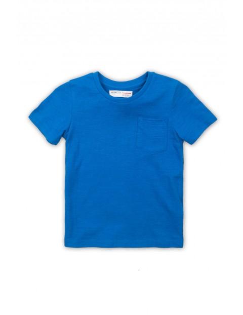 Bawełniany t-shirt dla niemowlaka- niebieski
