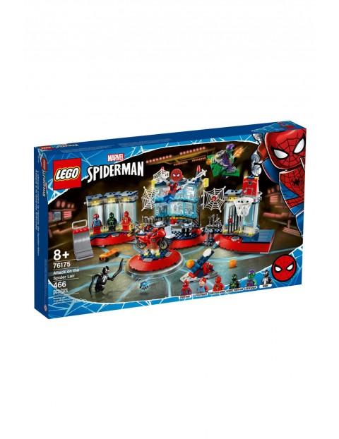 Lego Super Heroes 76175 - Atak na kryjówkę Spider-Mana - 466 elementów wiek 8+