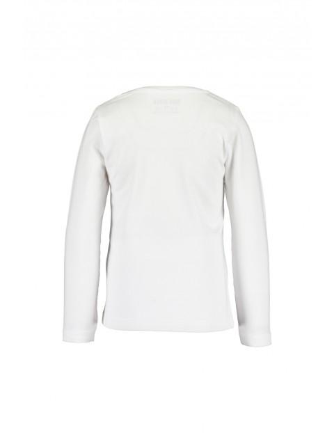 Biała bawełniana bluzka z kolorowym nadrukiem