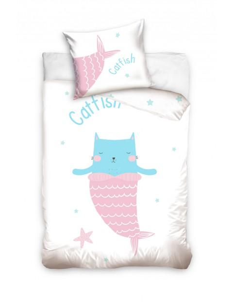 Pościeli bawełniana dla niemowlaka Catfish 100x135+40x60 cm