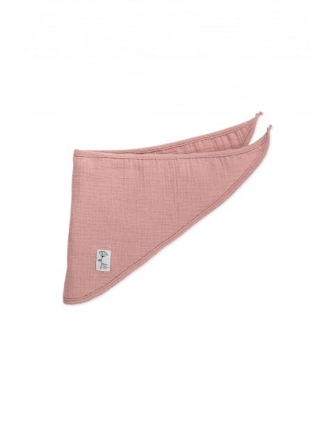 Chustka różowa muślin Petit Lou 100% bawełna