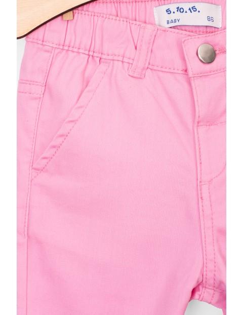 Spodnie dziewczęce różowe