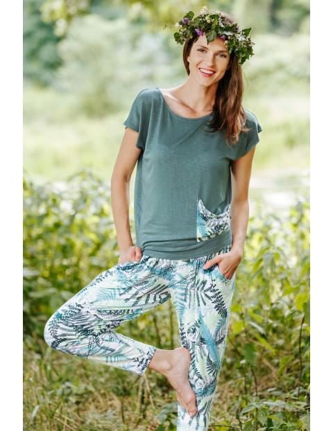Rekreacyjny komplet - bluzka z kieszenią i spodnie alladynki