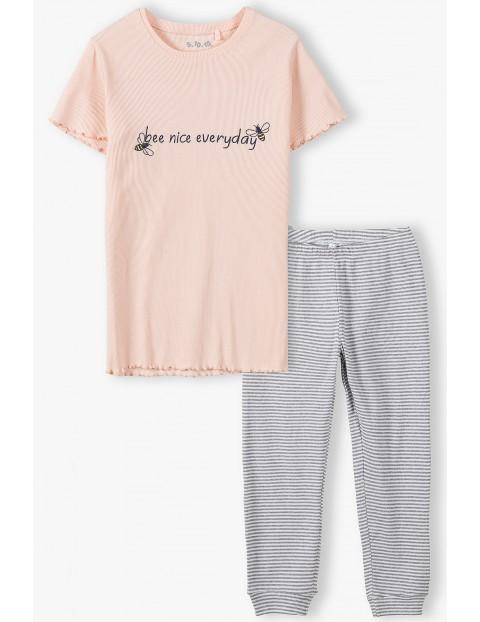 Piżama dziewczęca z napisem Bee Nice Everyday