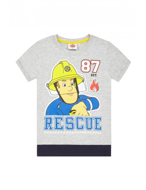 Koszulka chłopięca Strażak Sam-szara