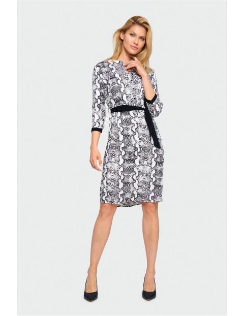 Sukienka damska- czarno- biała