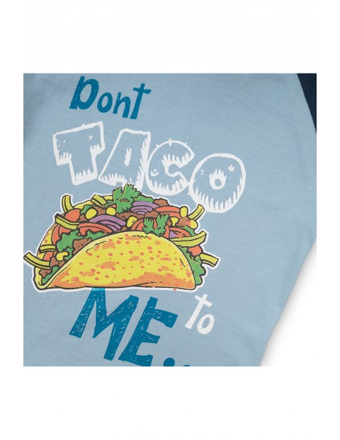 Niebieski t-shirt dla niemowlaka- taco