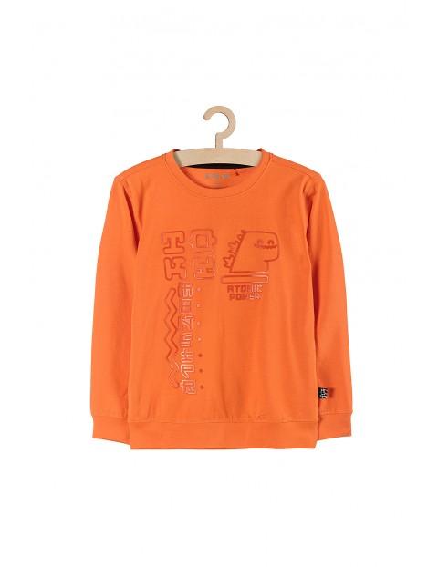 Bluza chłopięca cienka- pomarańczowa z nadrukami
