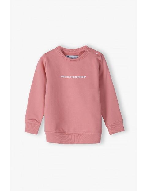 Bluza dresowa dla córki i mamy- różowa- Razem najlepiej