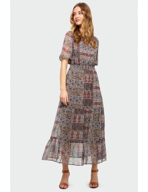 Elegancka długa sukienka damska